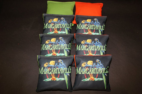 Tropical Five O clock Somewhere Margaritaville Cornhole bags, set of (8)