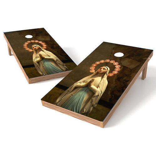 Virgin Mary Cornhole Wrap