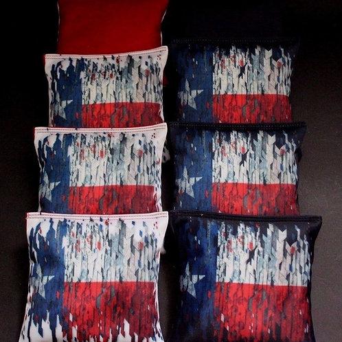 FLAG OF TEXAS HEART OF HONOR Cornhole bags, set of (8)
