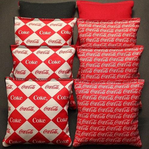Coca Cola COKE Cornhole bags, set of (8)
