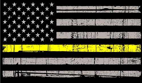 Yellow Line Flag Cornhole Board Decal Sticker