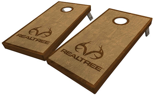 REALTREE SIMPLE STAINED CORNHOLE BOARDS - Corn Bags -Free Shippin