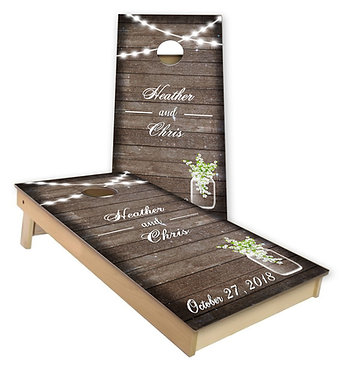 Wedding Celebration Cornhole Board Wrap - Personalize