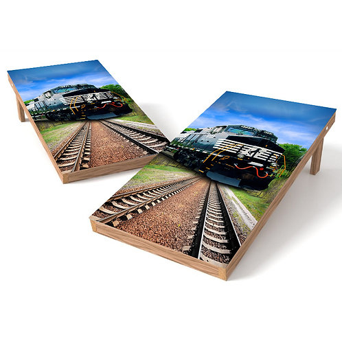 Norfolk Southern Train Cornhole Wrap