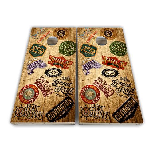 Louisiana Beer Louisiana Breweries Cornhole Board Set Baggo Set