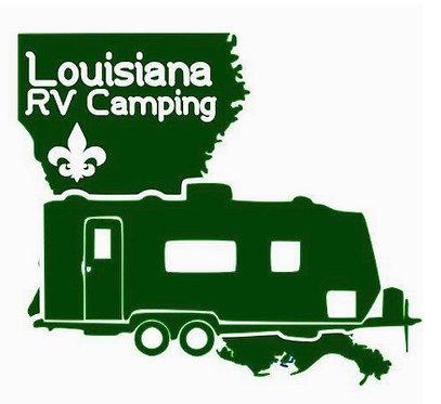 Louisiana RV Camping Decal Sticker