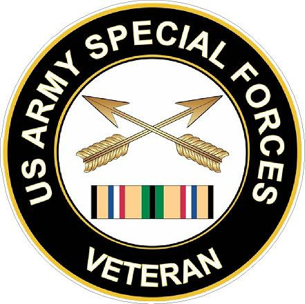 US Army Special Forces Veteran Cornhole Board Decal Sticker