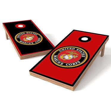 Marine Corp Solid Marine Cornhole Wrap