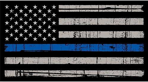 Police Blue Line Flag Cornhole Board Decal Sticker