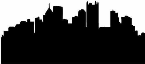 Pittsburgh Skyline Silhouette Decal Sticker Wolverines