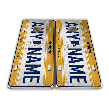 Rhode Island License Plate Cornhole Wrap Cornhole Decal - Customize