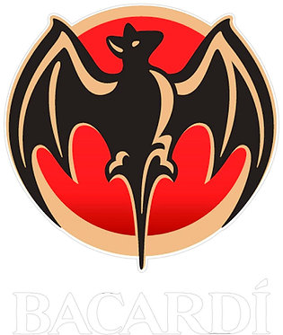Bacardi with White lettering Decal Sticker