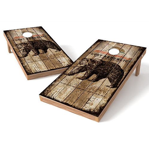 California State Lost Republic Cornhole Wrap