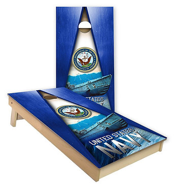 US Navy Submarine United States Navy Cornhole Wrap Cornhole Decal