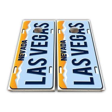 Vegas Cornhole Wrap Cornhole Decal - Custom License Plate