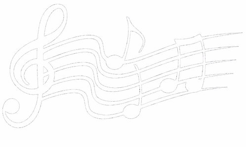 Music Notes Decal Sticker - All White