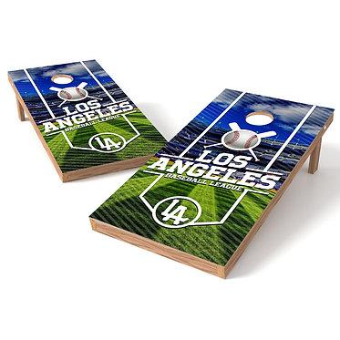 Los Angeles Baseball League Cornhole Board Wrap