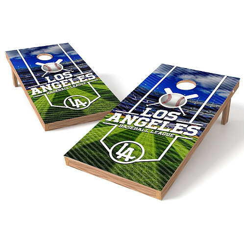 Los Angeles Baseball League Cornhole Board Wrap