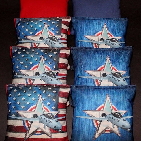 United States Air Force Cornhole bags, set of (8)