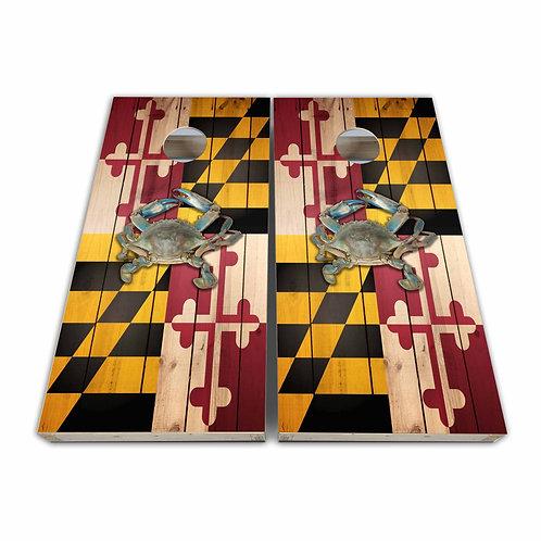 Baltimore Maryland Crab Maryland Flag Maryland Cornhole Board Set