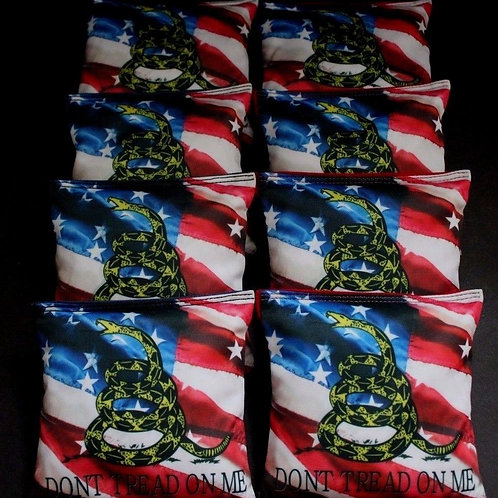 Marine Don't Tread on Me Cornhole bags, set of (8)