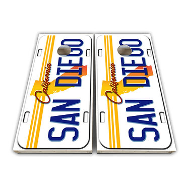 San Diego California Cornhole Wrap Cornhole Decal - Custom License Plate