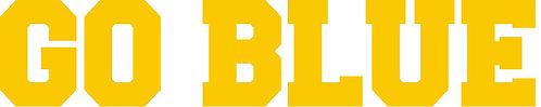 Go Blue Yellow Lettering Cornhole Board Decal Sticker