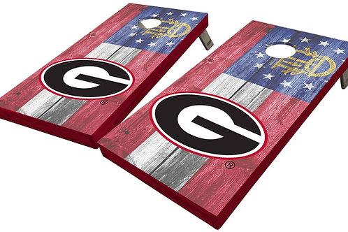 UNIVERSITY OF GEORGIA STATE FLAG CORNHOLE BOARD SET