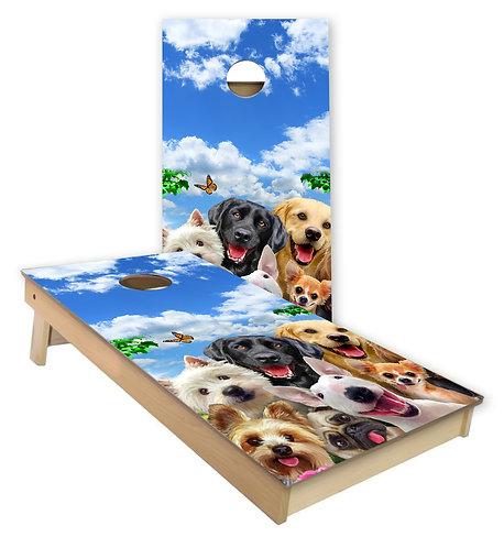 I Love Dogs Cornhole Board Wrap
