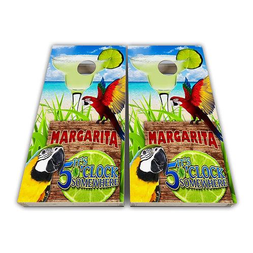 Red Parrot Margaritaville Cornhole Board Set Baggo Set
