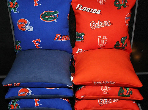 Florida Gators Cornhole bags, set of (8)