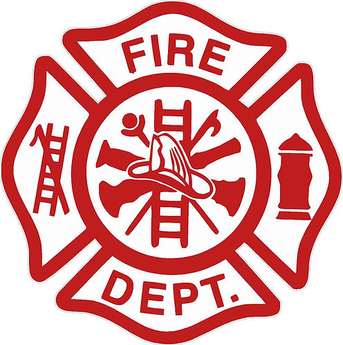 Fire Department Cornhole Board Decal Sticker