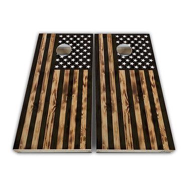 USA Wood Flag Baggo Skin Cornhole Wrap Decal