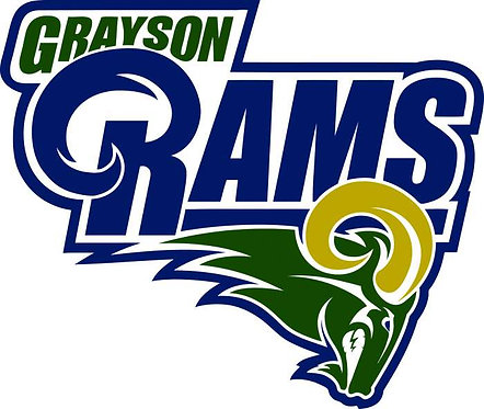 Grayson Rams high school Cornhole Board Decal Sticker