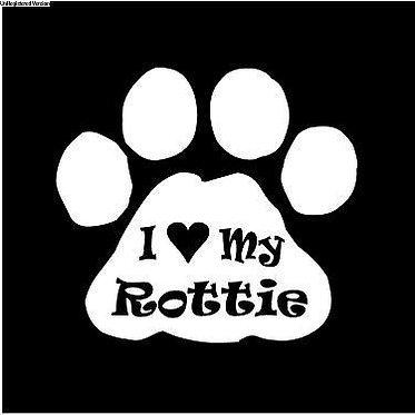 I love my Rottie Cornhole Decal Sticker