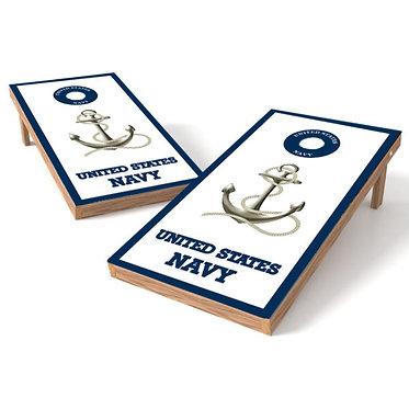 United States Navy Anchor Cornhole Wrap