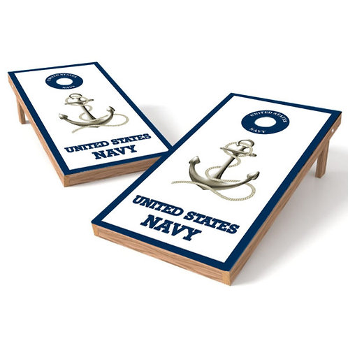 United Stated Navy Anchor Cornhole Wrap