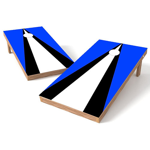 police blue triangle cornhole board wrap - Cornhole Board Wraps