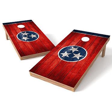 Tennessee Flag Star Wood Cornhole Board Wrap