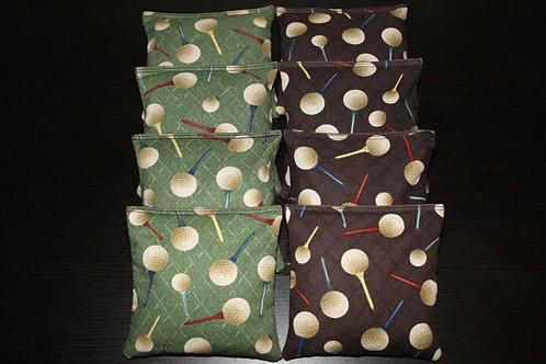Golf Balls Golfer Cornhole bags, set of (8)