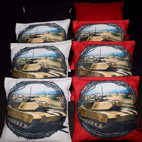 Marine Tank Cornhole bags, set of (8)