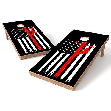 Lineman Flag Cornhole Decal Wrap