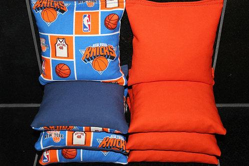 New York Knicks basketball Cornhole bags, set of (8)