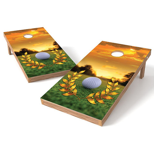 Golf Play Cornhole Board Baggo Bag Toss Cornhole Wrap