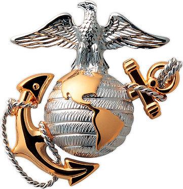 Marines Globe Cornhole Decal Sticker