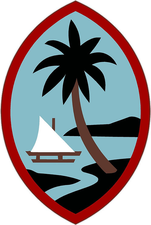Guam Cornhole Board Decal Sticker