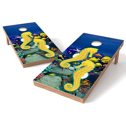 Seahorse 2 Cornhole Board Wrap