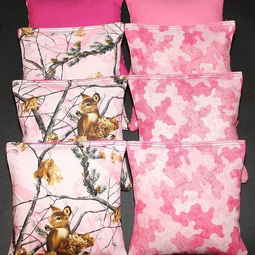 REALTREE Pink Camo Deer Camoflauge Cornhole bags, set of (8)