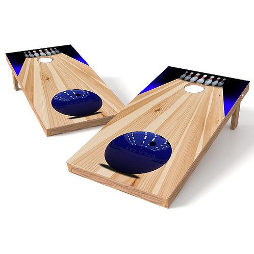 Bowling Lane Cornhole Board Wrap