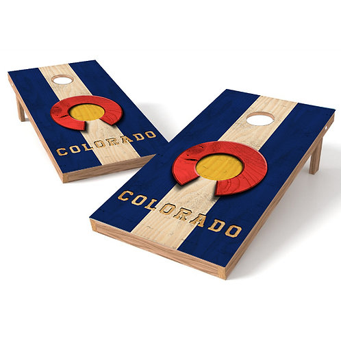 Colorado State Wood Cornhole Wrap